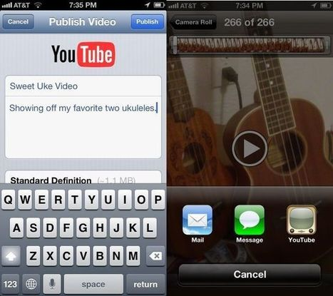 Upload Video From Your iPhone or iPad Photo Roll Directly To YouTube   iFilmmaking   Scoop.it