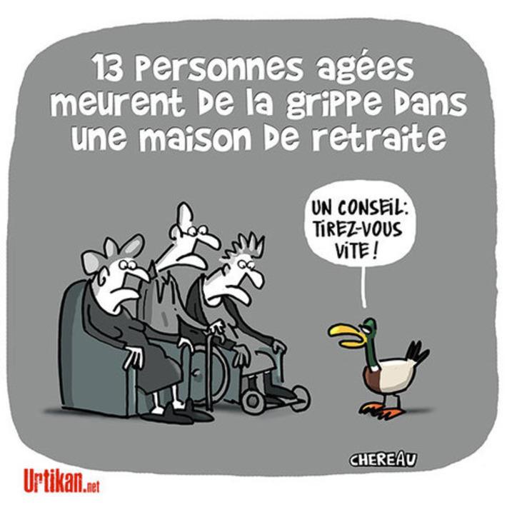 Grippe : comment expliquer la mort de treize retraités à Lyon ? | Baie d'humour | Scoop.it