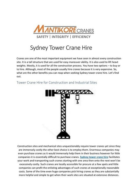 Crane Truck For Sale Nsw' in Tower Cranes | Scoop it
