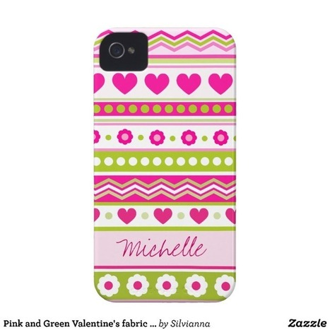 Pink and Green Valentine's fabric iPhone 4/4S Case iPhone 4 Case-Mate Case from Zazzle.com | Cute floral iPhone Cases | Scoop.it