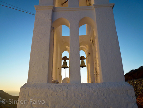 A Greek Bell Tower at Sunset | World Travel | Scoop.it