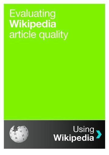 File:Evaluating Wikipedia article quality 2010-11-26 (web).pdf - Outreach Wiki | 2012 - a sprint not a marathon | Scoop.it