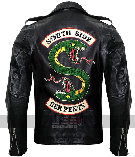 1f29bcfafcc Jughead Jones Southside Serpents Riverdale Black Leather Jacket