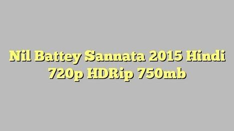 1080p Nil Battey Sannata