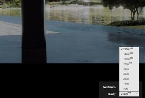 YouTube añade en su menú de opciones de vídeo a 2160p para vídeos a 4K de resolución | Web-On! Comunicación digital | Scoop.it