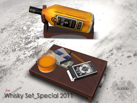 Whisky Set Special v2.0 by Kal Rau | Teleport Hub | 亗 Second Life Freebies Addiction & More 亗 | Scoop.it