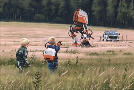 Simon Stålenhag's Retro Sci-Fi Images of a Dystopian Swedish Countryside Published In Two New Books | What Surrounds You | Scoop.it