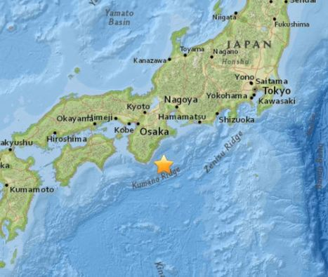 M6.0 - 56km SE of Shingu, Japan | Japan Tsunami | Scoop.it