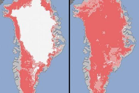 Groenland : sa calotte glacière a presque entièrement fondu | Ca m'interpelle... | Scoop.it