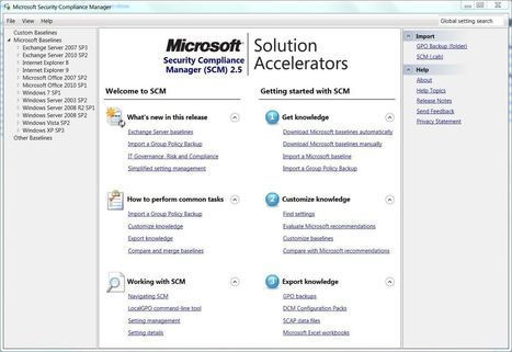 Use MS Security Compliance Manager to secure your Windows environment | IT Security | Scoop.it