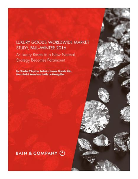 BAIN & Company Luxury goods worldwide market study 2016 #fashion #style | Designing  service | Scoop.it