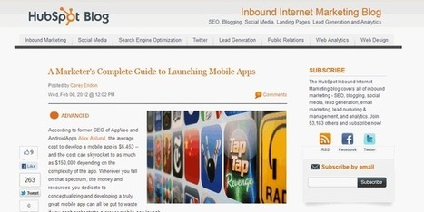 HubSpot – A Marketer's Complete Guide to Launching Mobile Apps | Your Mobile Marketing Minute | Scoop.it