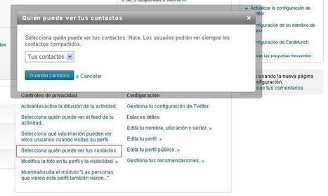 Configuración básica de privacidad en Linkedin | Web-On! Comunicación digital | Scoop.it