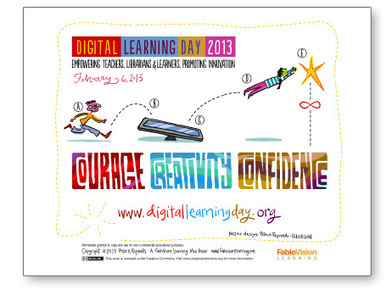 New Peter H. Reynolds Poster! Celebrate Digital Learning Day on February 6, 2013 | Informed Teacher Librarianship | Scoop.it