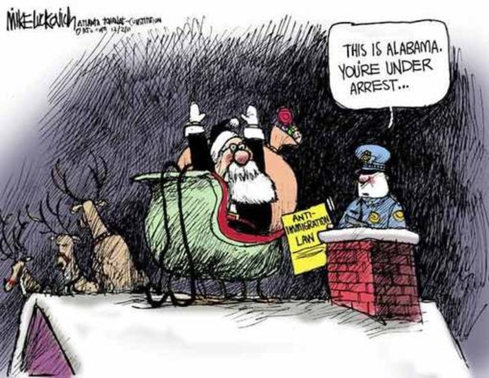 12/02 Mike Luckovich cartoon: Immigration check | Mike Luckovich | Machinimania | Scoop.it