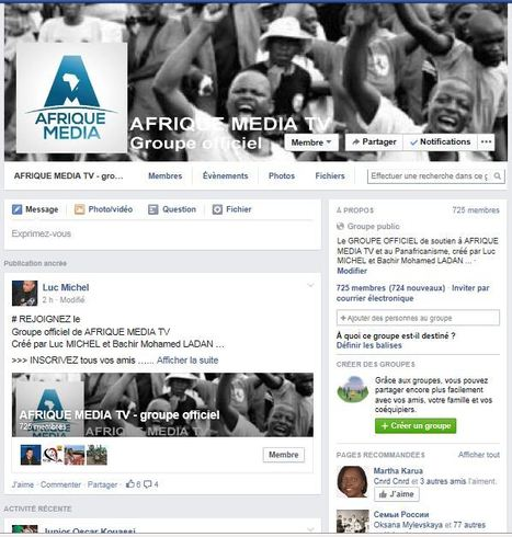 # AFRIQUE MEDIA TV GROUPE OFFICIEL/ DEMARRAGE EN FORCE POUR LE 'GROUPE OFFICIEL AFRIQUE MEDIA TV' SUR FACEBOOK ! | AFRIQUE MEDIA TV | Scoop.it