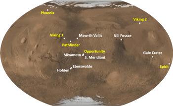Le cratère Gale choisi pour explorer Mars en 2012 ? | Mars en août | Scoop.it