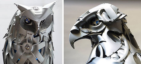 Old Hubcaps Recycled Into Animal Sculptures   16s3d: Bestioles, opinions & pétitions   Scoop.it
