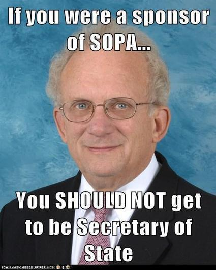 Obama: Don't appoint SOPA architect as next Secretary of State | Demand Progress | An Eye on New Media | Scoop.it