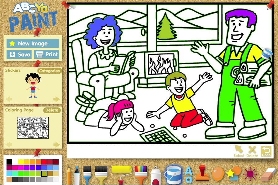 ABCya! PaintGo | Kid\'s Coloring, Drawing, Stick...