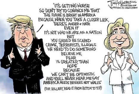 Cartoonist Sums Up Difference Between Trump and Clinton in One Clever Cartoon – AmericanUpbeat.com | sites for efl teachers | Scoop.it