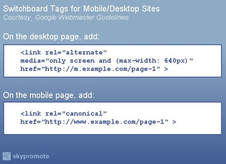Switchboard Tags: Like Canonical Tags, But For Mobile SEO - Search Engine Land | Lectures web | Scoop.it