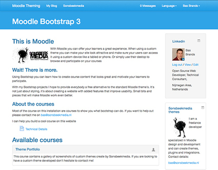 Creating a Moodle Bootstrap 3 theme - BasBrands.nl | E-learning UX & Moolde | Scoop.it