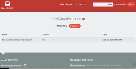 Maildrop. Un email temporaire pour se protéger du spam - Les Outils du Web | assistance outils internet-web | Scoop.it