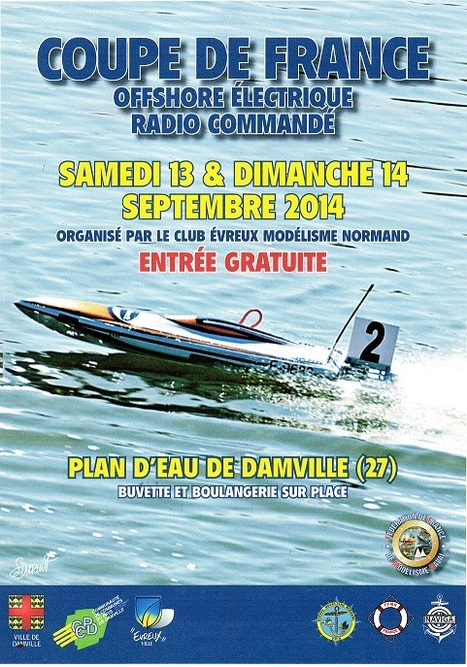 "Coupe de France ""Offshore électrique"" à Damville le 13 et 14 septembre 