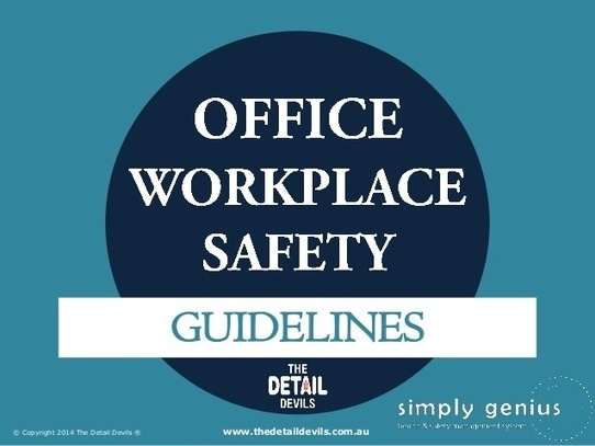 safety guidelines at the workplace Home » 11 tips for effective workplace housekeeping especially in terms of keeping their own work areas tidy, reporting safety hazards and create written rules.