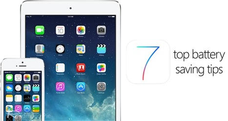 Top 28 iOS 7 Battery Life Saving Tips [Guide] | Redmond Pie | iPad Apps for Education | Scoop.it