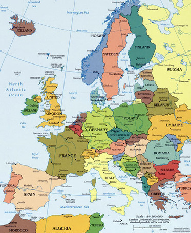 Map of europe european maps countries landfo map of europe european maps countries landforms rivers and geography information gumiabroncs Images