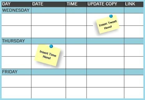 The Social Media Publishing Schedule Every Marketer Needs [Template] | All in one - Social Media ROI | Scoop.it