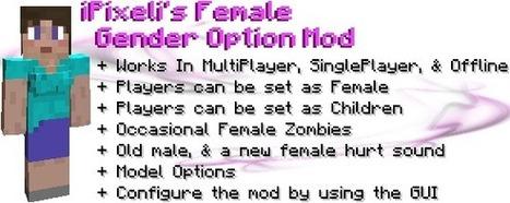 Female Gender Option Mod for Minecraft 1.5.1/1.5/1.4.7 | Free Download Minecraft | Scoop.it