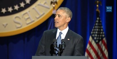 Read And Watch President Obama's Entire Farewell Speech  | Coffee Party Equality | Scoop.it