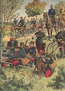 La bicyclette mitrailleuse aux manœuvres (1913)   GenealoNet   Scoop.it