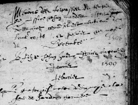 Notes sur les sépultures de Briollay -1598-1620 | GenealoNet | Scoop.it