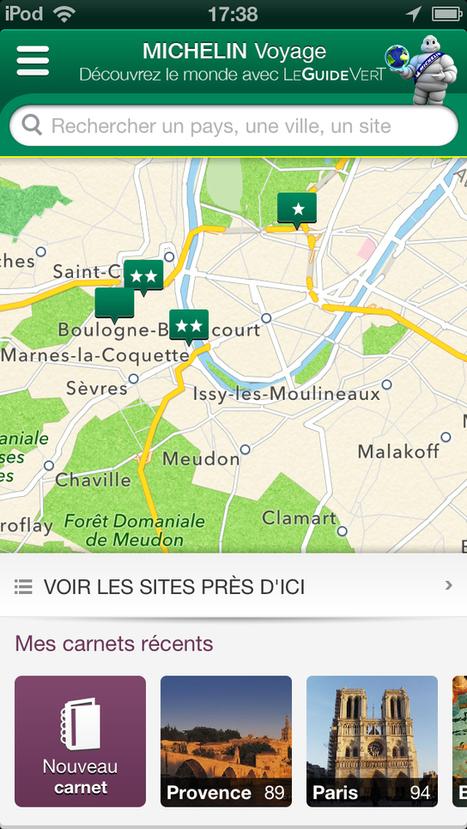 Michelin lance un guide Vert personnalisable sur Smartphone | E-Tourisme Mobile | Scoop.it