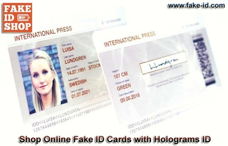 Buy Affordable Fake ID Cards Online with Holograms ID | Online Shop for Fake ID Cards | Scoop.it