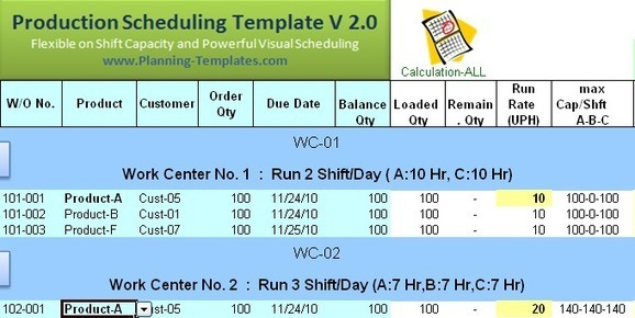 Download Free Excel Production Schedule Templat