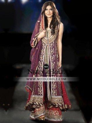 d1d4671009 Bridal Gown Sharara Dress | Pakistani Bridal Dresses, Indian Wedding Dresses,  Engagement Dresses,