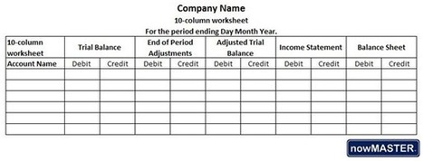 Printables Accounting Worksheet what is a 10 column worksheet in accounting here
