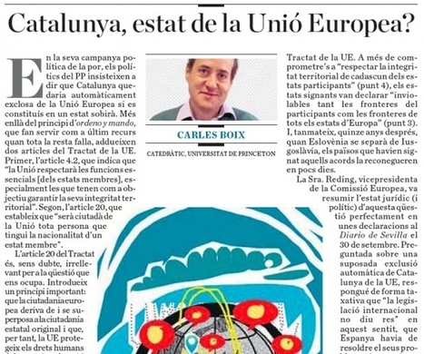 Catalonia, state of the European Union?, by Carles Boix | AC Affairs | Scoop.it