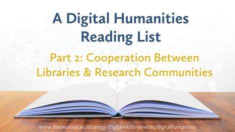 A Digital Humanities Reading List  Part 2 - LIBER cdd2543a8de3