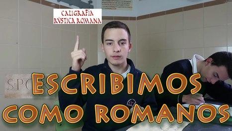 Escribimos como romanos - Taller de escritura antigua | EURICLEA | Scoop.it