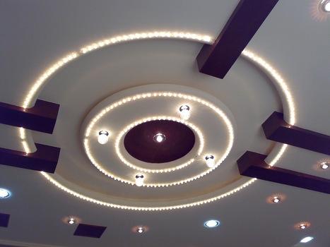 maison villa plafond en plâtre moderne - ...