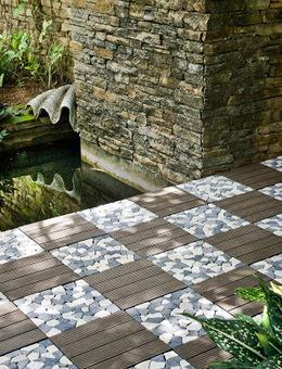 Garden Tile 30×30 Rustic Grey And Mix Grey White Mosaic | DIY Garden Tiles