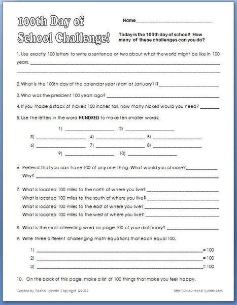 Back to School Worksheets & Printables