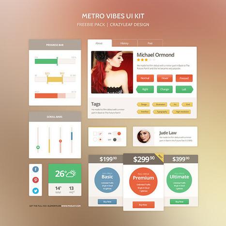 Metro Vibes - The Perfect Metro Style UI Kit - CrazyLeaf Design Blog | inalia | Scoop.it