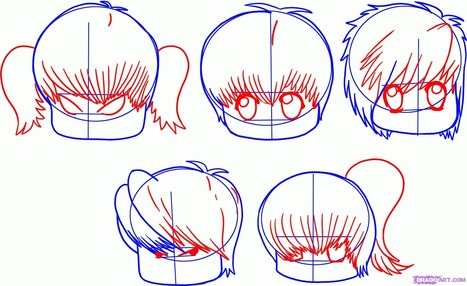 how to draw chibi hair step by step chibis draw